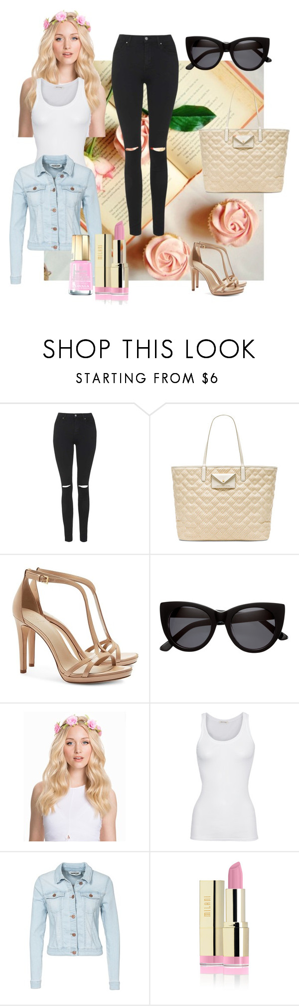 """""""20. Blondes have more fun"""" by kristina-lindstrom ❤ liked on Polyvore featuring Topshop, Marc by Marc Jacobs, Tory Burch, H&M, NLY Accessories, American Vintage, Noisy May and Mavala"""