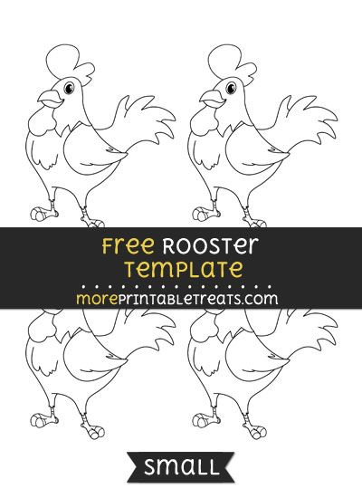 Free Rooster Template - Small | Farm Theme Printables - Free ...