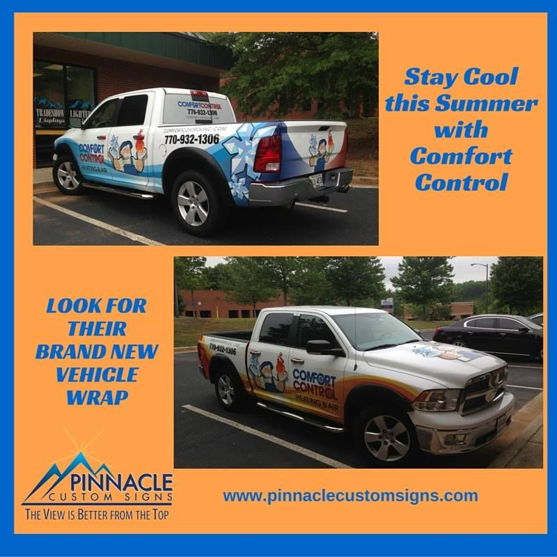 Stay Comfortable This Summer With Our Friends Comfort Control Heating Air Check Out Their New Vehiclewrap Too With Images Car Wrap