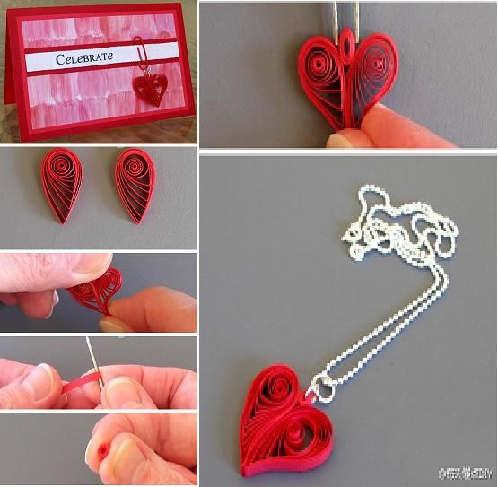 Diy quilling heart shaped decoration diy tutorial for Easy quilling designs step by step