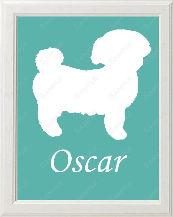 Personalized Shih Tzu Dog Silhouette Art Print 8 X 10 by ...