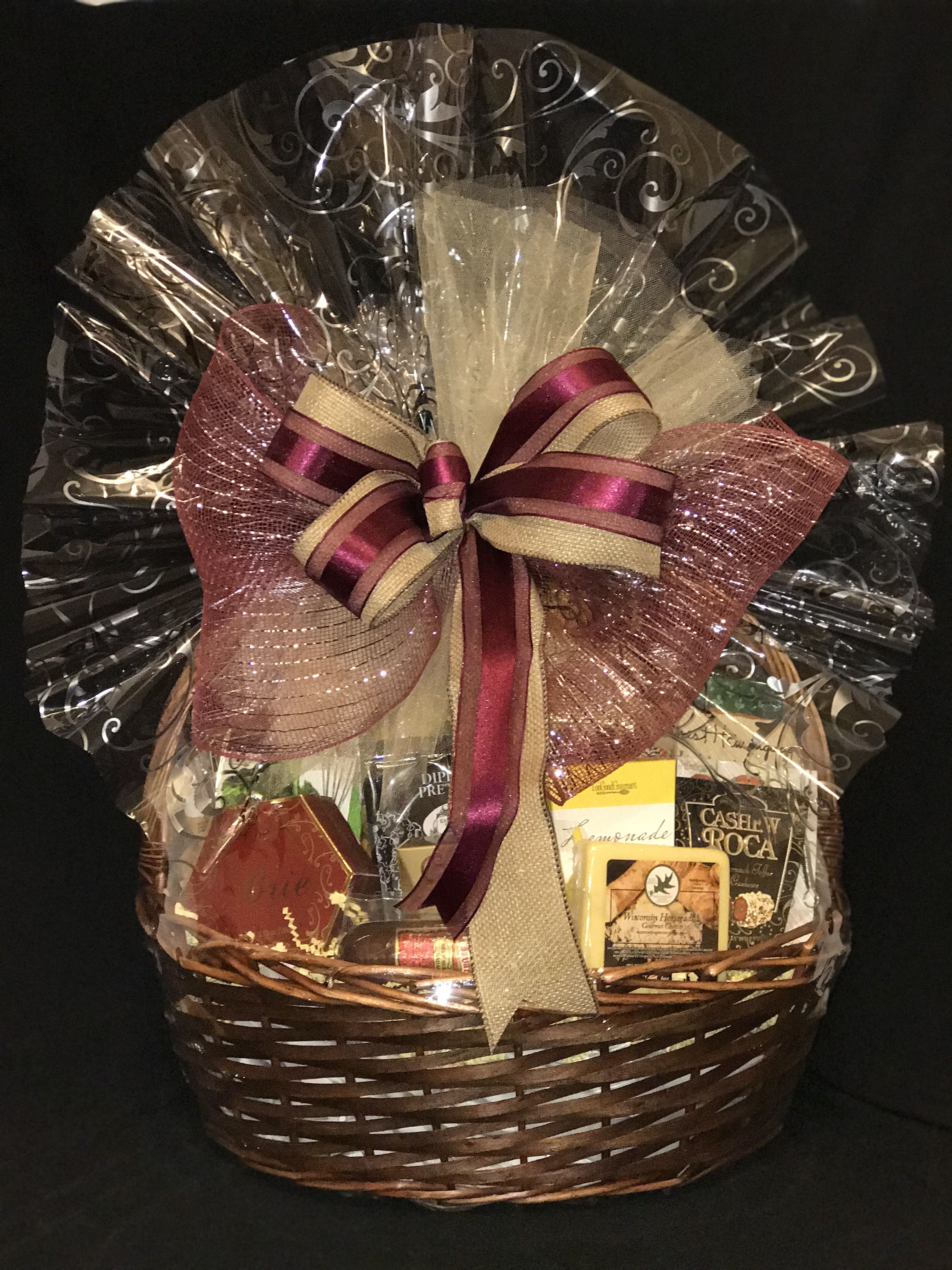 Salty Sweet And Mixed Overabundance Of Gourmet Treats Can Be Used For A Birthday Sympathy Sympathy Gift Baskets Wedding Gifts Packaging Wedding Gift Pack