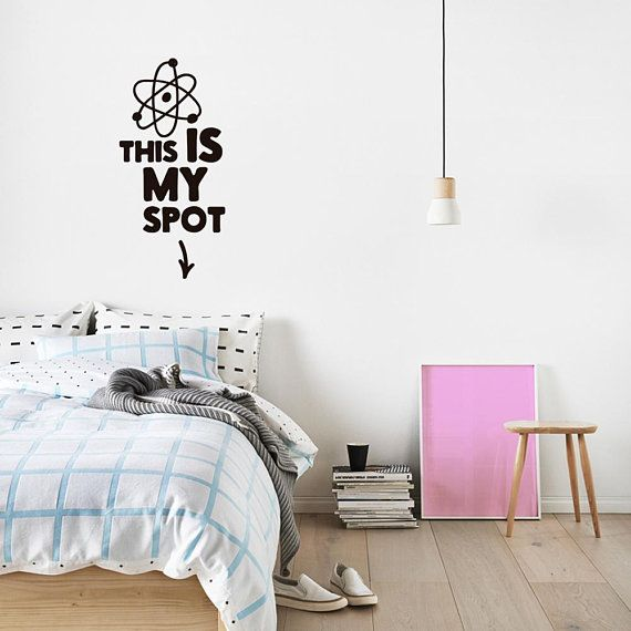 this is my spot wall sticker the big bang theory tv show | the big