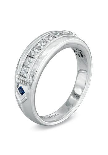 e54b1c5726468 Vera Wang LOVE Collection Men s 3 4 CT. T.W. Princess-Cut Diamond Wedding