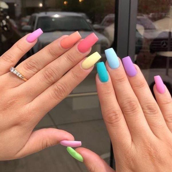 Colorful Mood Tumblr Somethingnew Stereotypes Littlegirl Pleasures Hot Colorful Mood Tumbl Multicolored Nails Acrylic Nail Designs Rainbow Nails