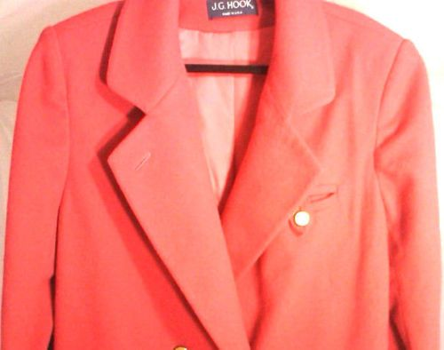 J.G.HOOK Red Overcoat,Womens Medium Barbara Johnson Original