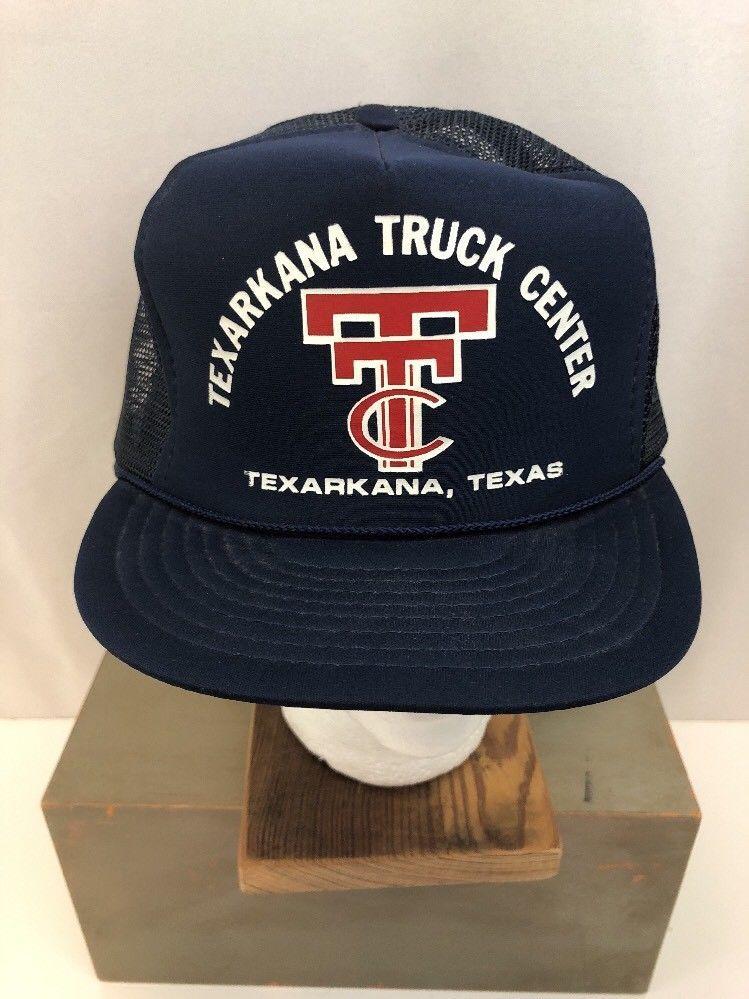 Vintage Texarkana Texas Truck Center Trucker Hat Snapback Mesh Cap Nissin  Poly  Nissin  Trucker 67519b68cb0