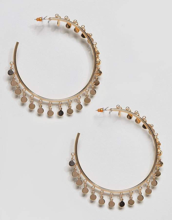 76d4c694cb7801 Mini Disc XL Hoop Earrings | Products | Hoop Earrings, Earrings, Fashion