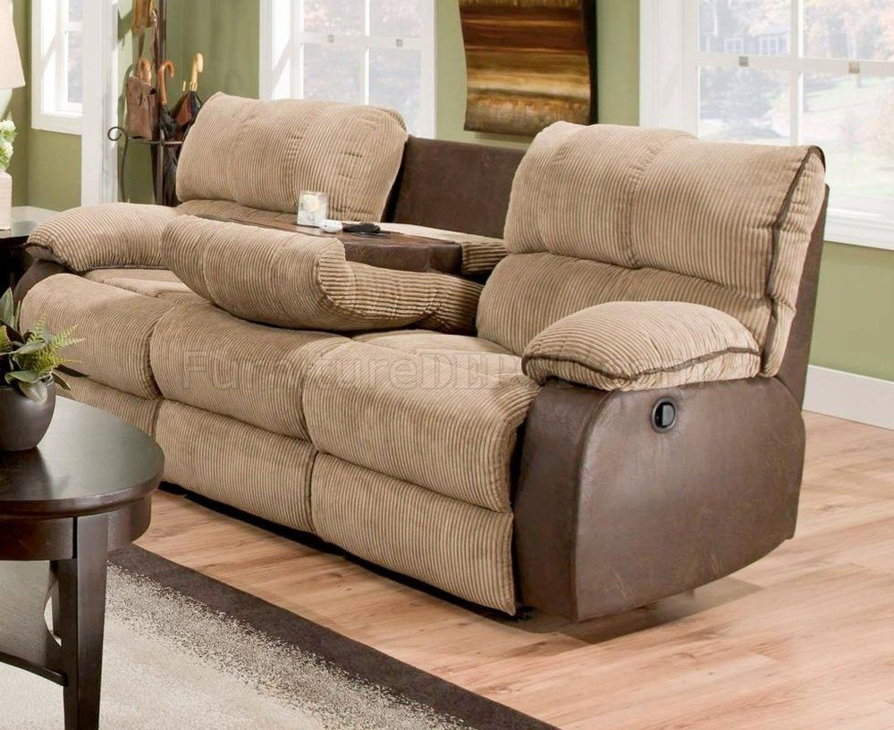 Microfiber Reclining Sofa With Drop Down Table in 2020