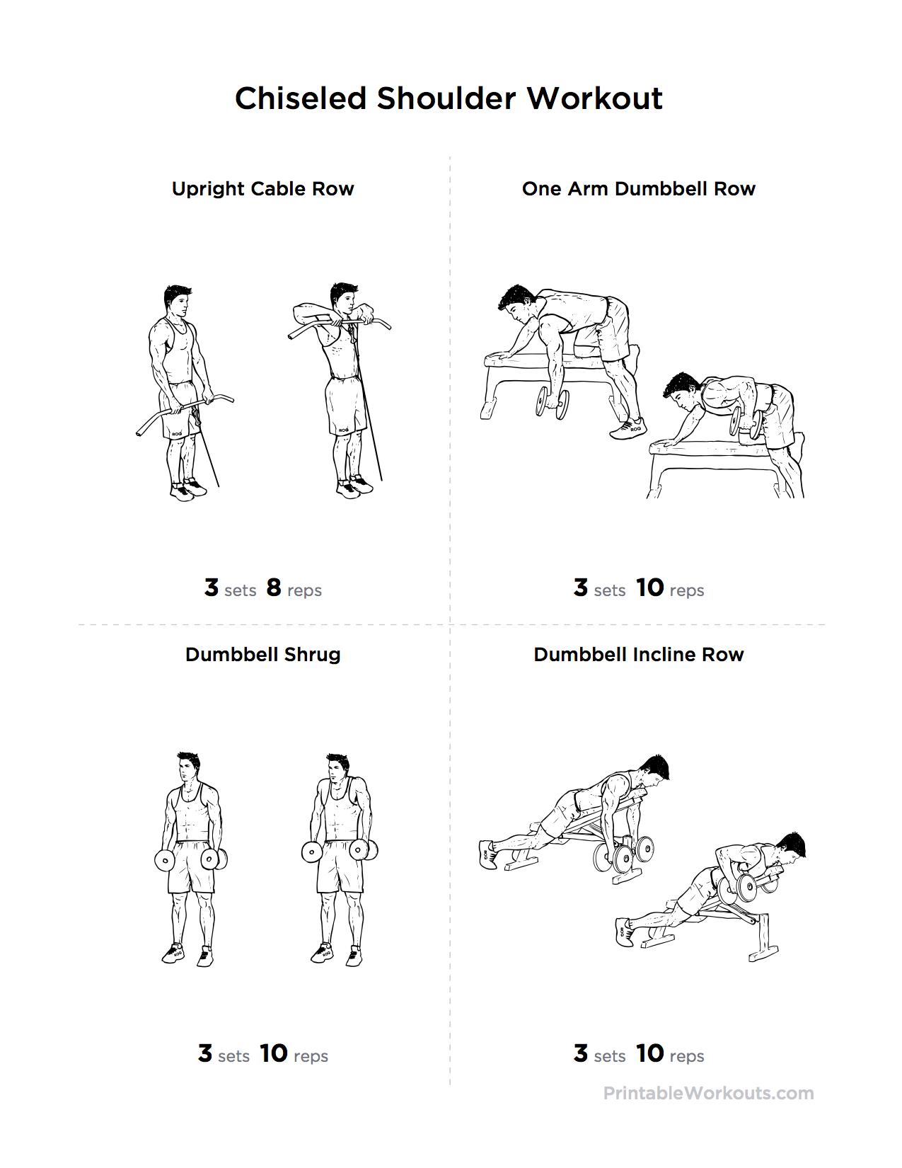 Printable Chiseled Shoulder Workout Create Free Custom