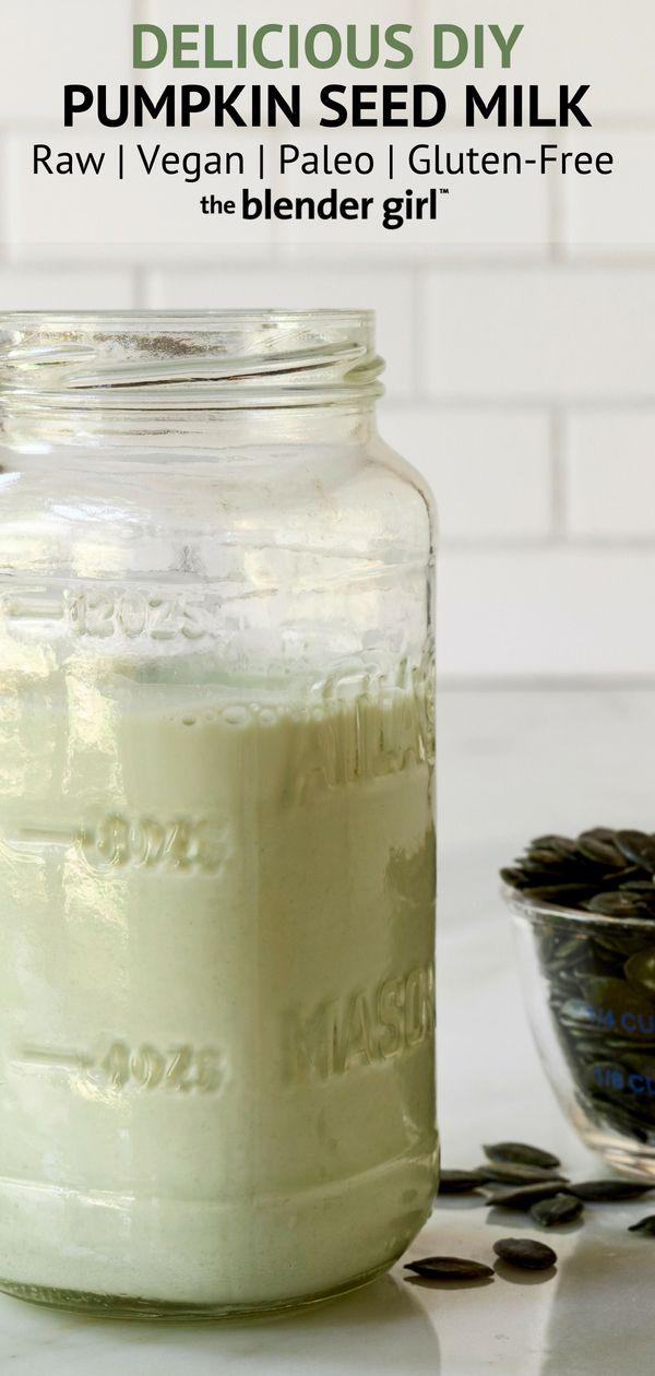 Pumpkin Seed Milk Recipe Raw Vegan Paleo Pumpkin
