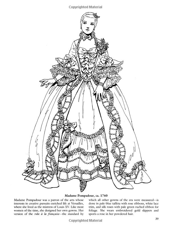 French Baroque And Rococo Fashions Dover Fashion Coloring Book Amazonco
