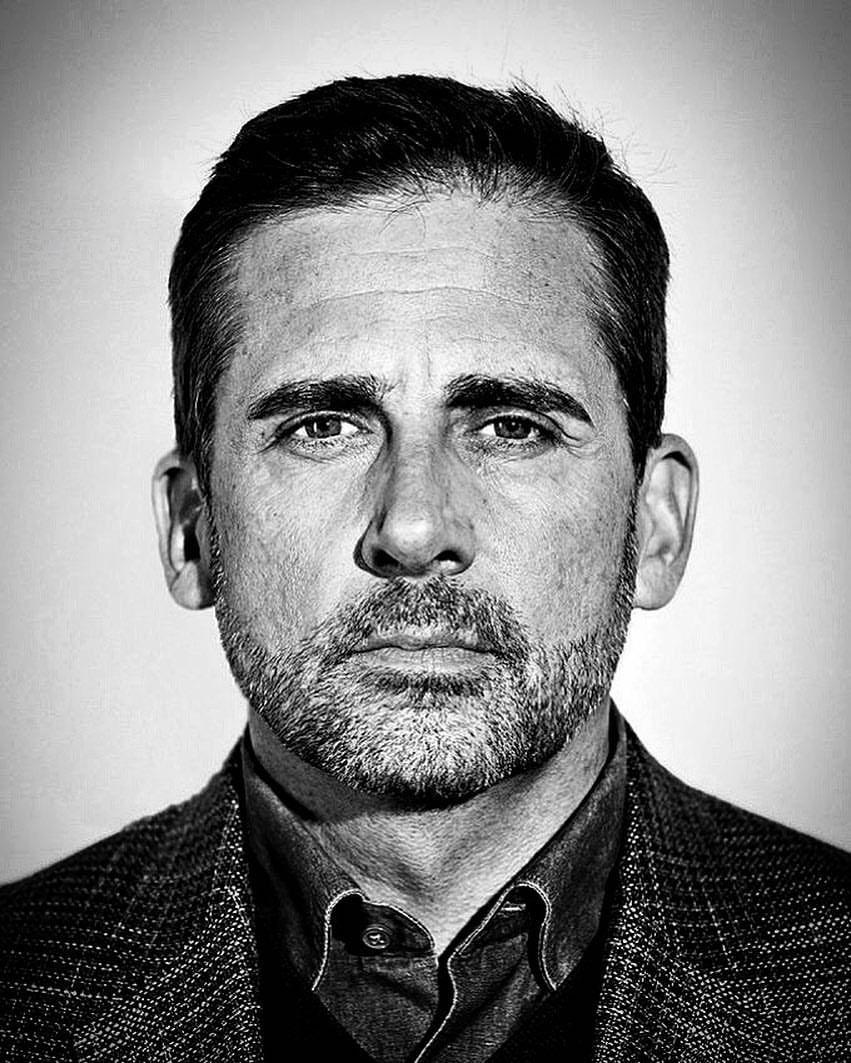 Steve carell steve carell actors black and white portraits portrait ideas movie