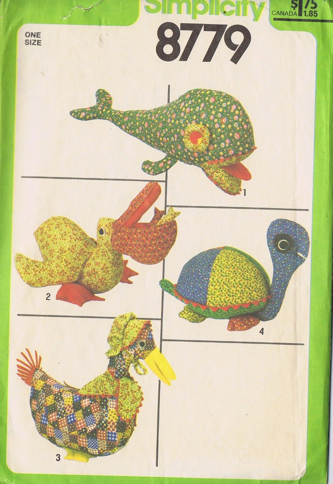 Goose sewing pattern choice image craft decoration ideas stuffed toys sewing pattern 8779 simplicity whale pelican turtle sewing pattern stuffed toys whale pelican goose jeuxipadfo Gallery