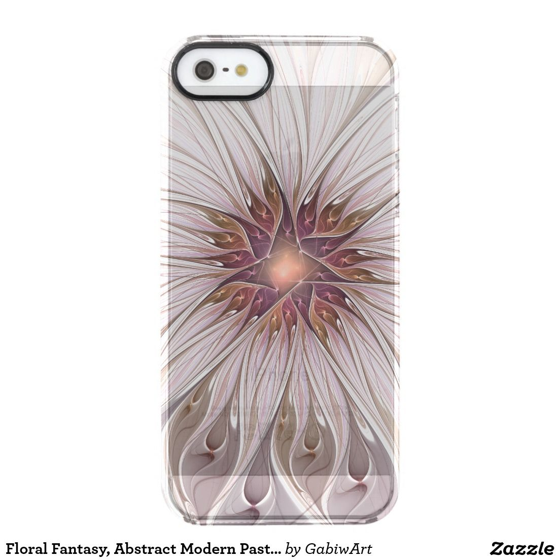 Floral Fantasy, Abstract Modern Pastel Flower Clear iPhone SE/5/5s Case