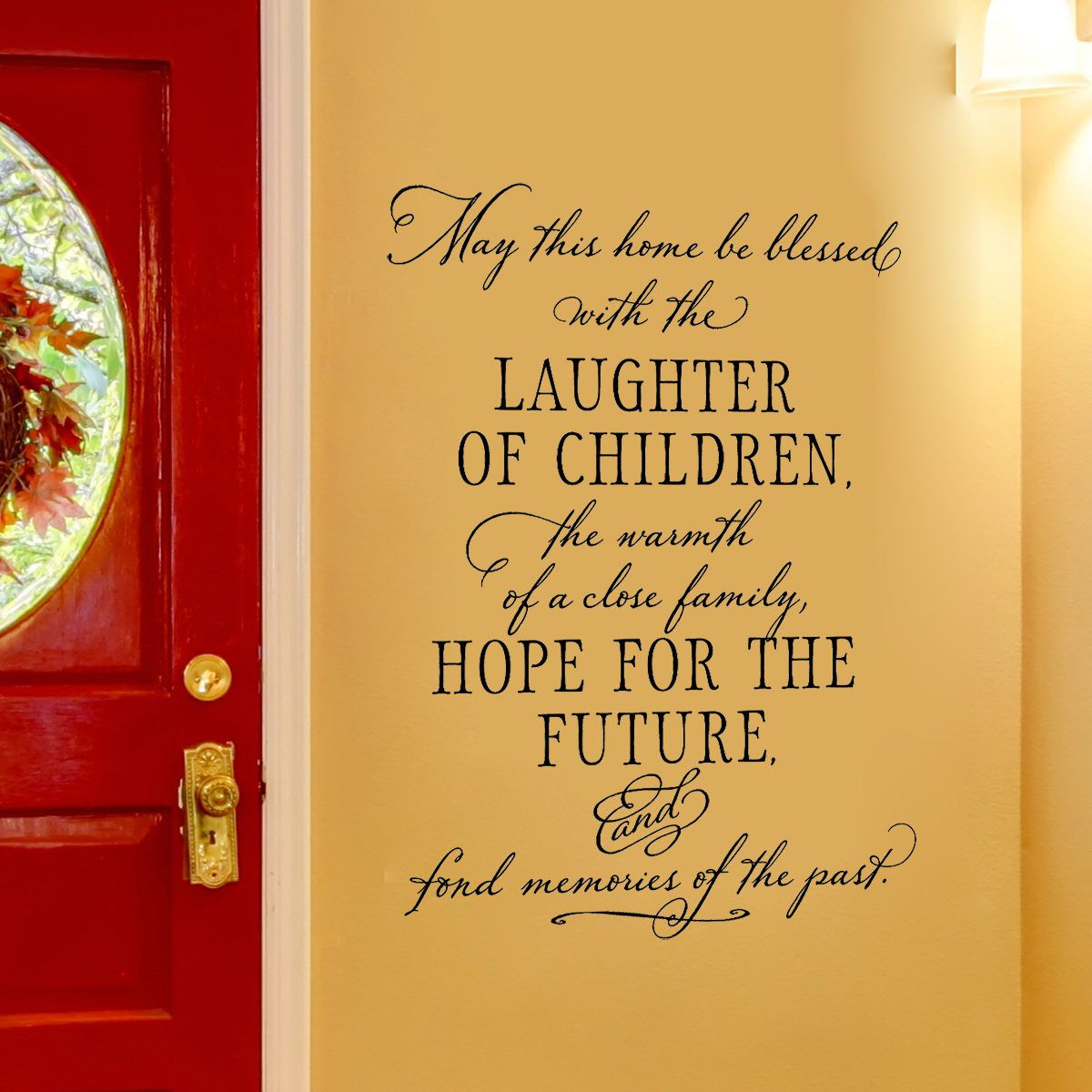 Family Quote Wall Decal - May this home be blessed with the ...