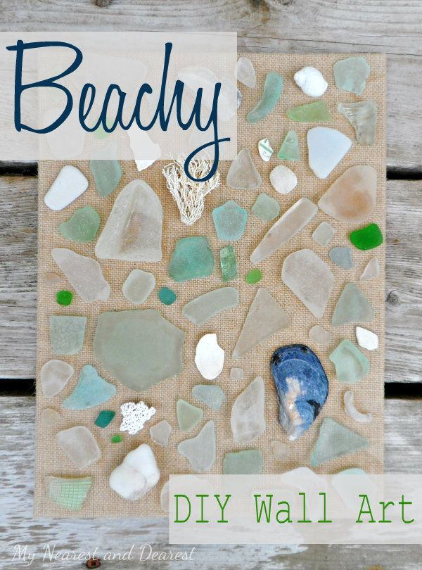 Easy Beach Themed Diy Wall Art Such A Pretty Way To Display Your