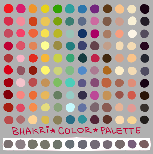 Character Design Color Palette : My color palette by bhakri on deviantart character