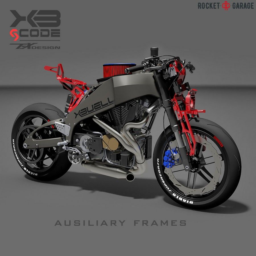 """XBuell gcode 1.2"" custom Buell XB12R Firebolt 2006 rendering by Paolo Tesi  aka Tex Design  334d27261a"