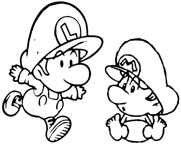 Mario And Luigi When We Were Baby Coloring Pages Download Print Online Coloring Pages F Mario Coloring Pages Baby Coloring Pages Super Mario Coloring Pages