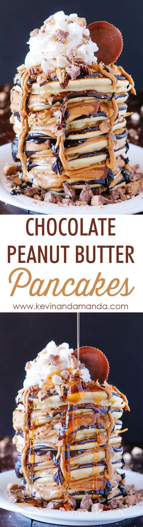 Chocolate Peanut Butter Cup Pancakes Best Pancakes Recipe Recipe Peanut Butter Pancakes Yummy Breakfast Food