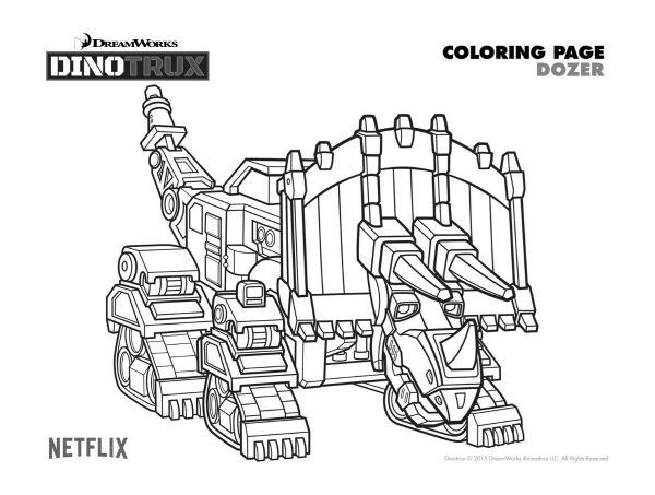 Free Printable Dinotrux Dozer Coloring Page Coloring Pages In 2018