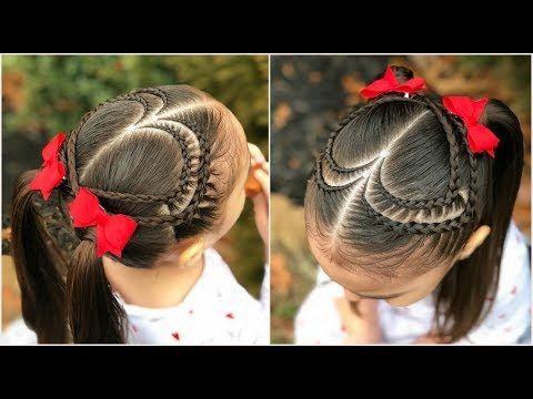 Peinado para niña fácil y rápido de hacer con ligas, trenzas y - peinados de nia faciles de hacer