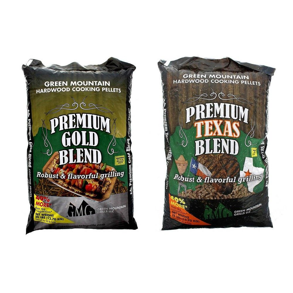 Green Mountain Premium Gold Blend Grilling Pellets Premium Texas Blend Pellets Green Mountain Grills Green Mountain Grilling