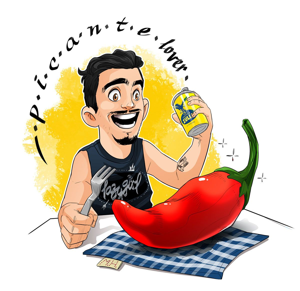 Picante-Lover on Behance | Chili Art | Pinterest | Lovers and Mexicans