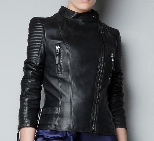975306e0d85 Facotry Women Jacket Real Sheepskin Genuine Leather TOP Brand Slim Short Black  Bomber Biker Motorcycle Female Winter Coat ZH049A