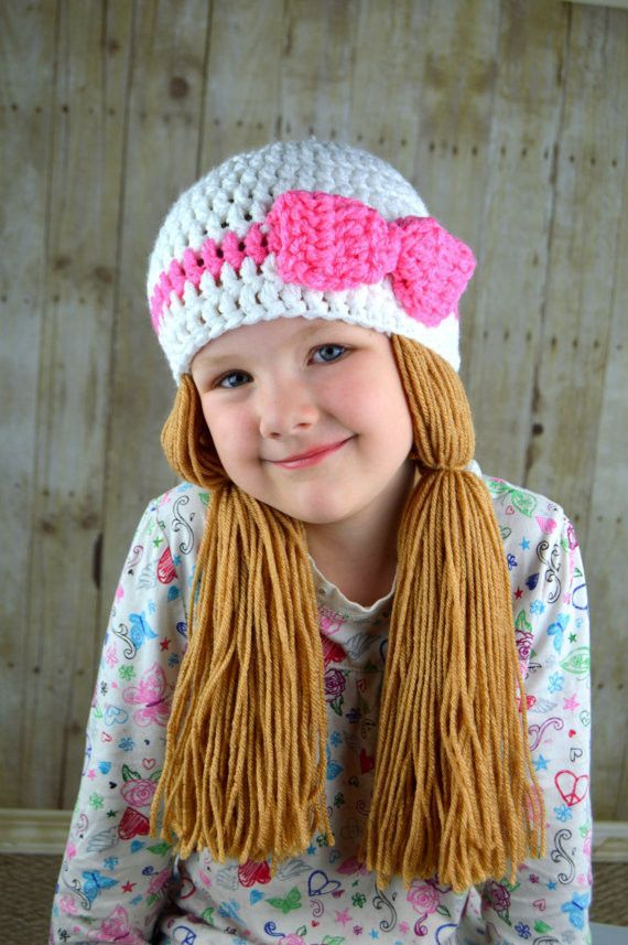 Beanie Braids - White with Medium brown loose pigtail | Pinterest ...