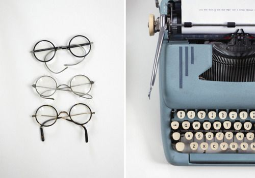 Glasses and Typewriter
