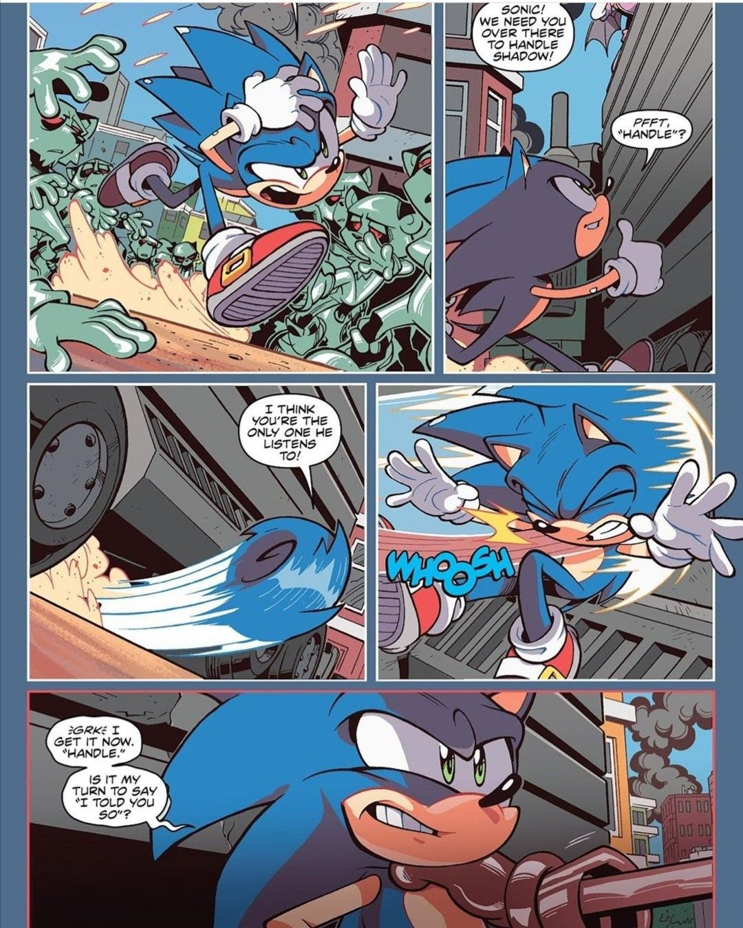 Sonicthehedgehog Shadowthehedgehog Rougethebat E123omega Zombots Idwsonic19 Thisisinsane Mypoorboys Street Fighter Comics Shadow The Hedgehog Sonic