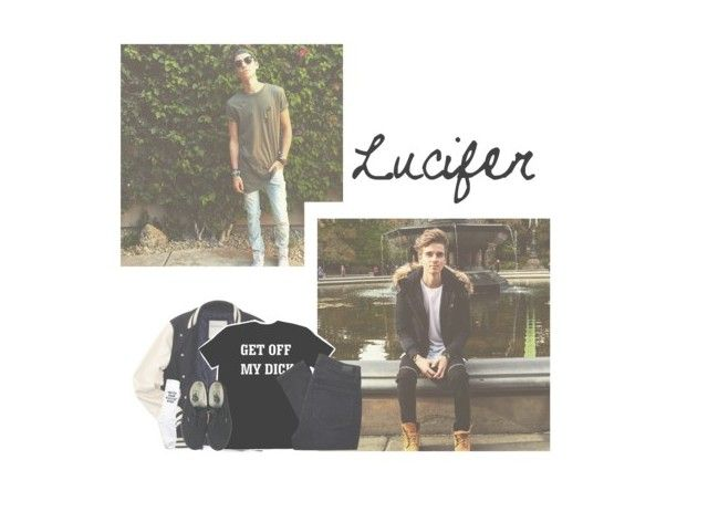 """""""☯️☪️ Lucifer ; Items ☪️☯️"""" by pastelprincesslol ❤ liked on Polyvore featuring Aéropostale, Paige Denim and Vans"""