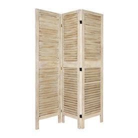 Oriental Furniture Room Dividers 3 Panel Burnt White Folding Indoor Privacy  Screen Lowes