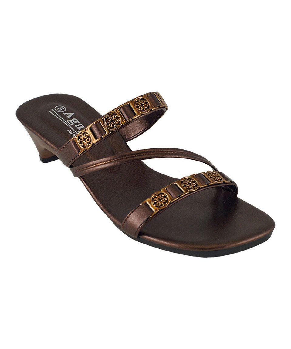 Another great find on #zulily! Bronze Crisscross Ideal Sandal by Agape #zulilyfinds