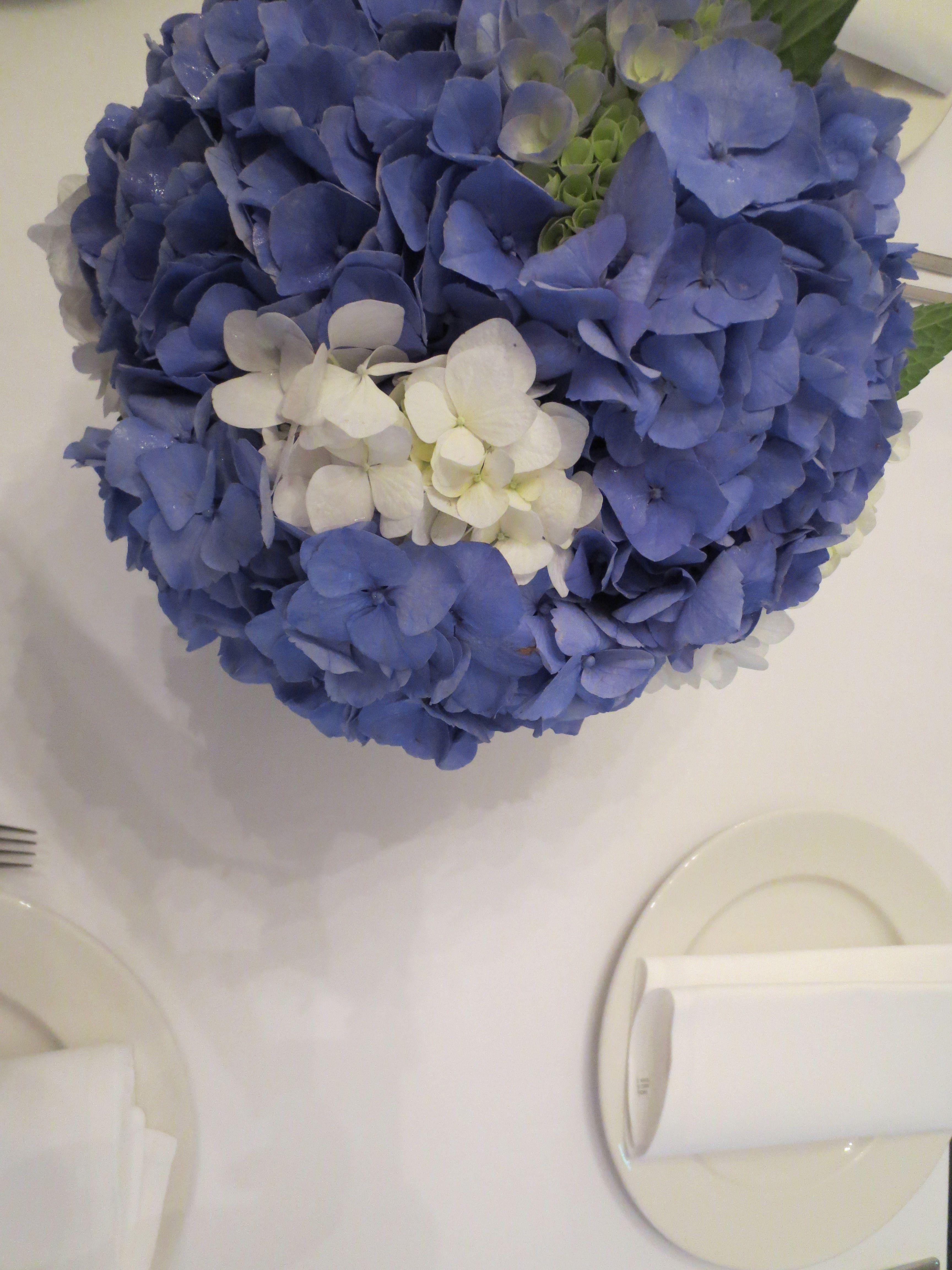 Hydrangeas decorate the tables wedding flowers pinterest
