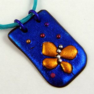 Friendly Plastic Butterfly Pendant