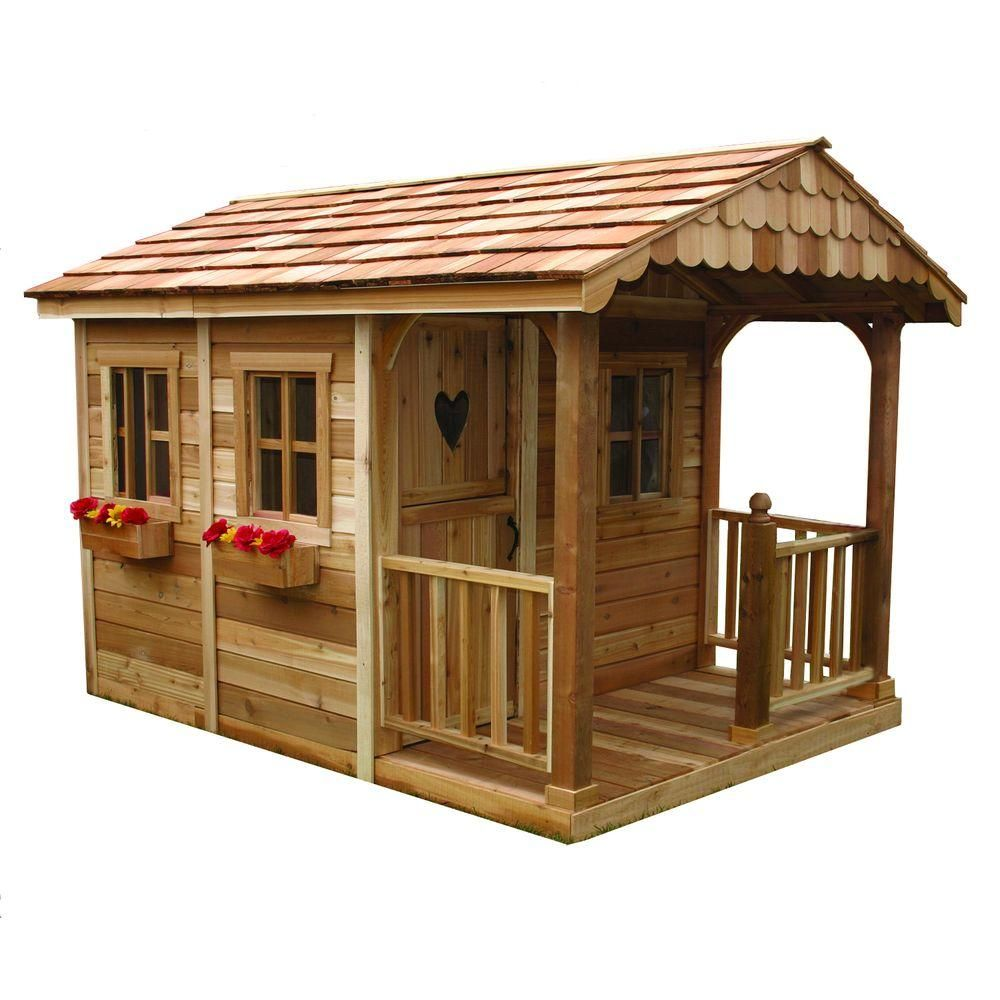Outdoor Living Today 6 ft x 9 ft Sunflower Playhouse Playhouses