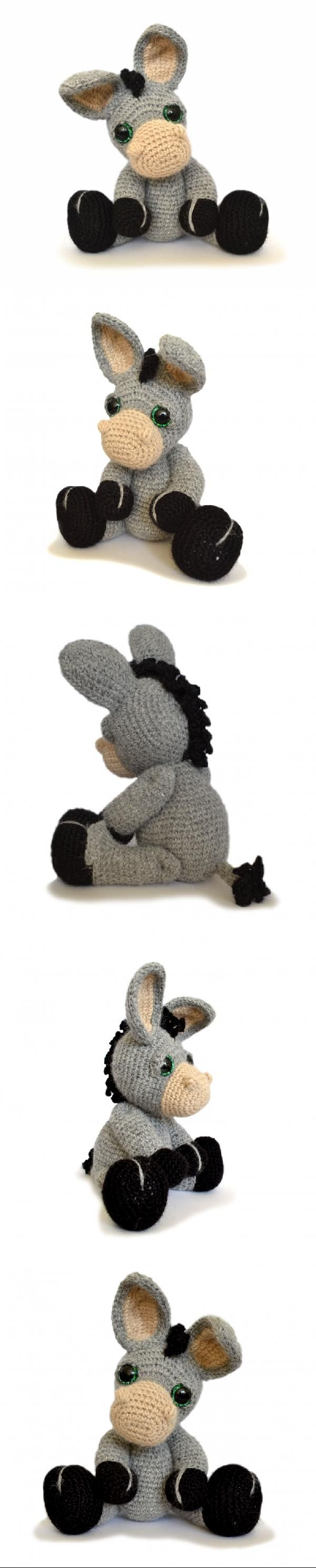 Dylan the Donkey amigurumi pattern by Patchwork Moose (Kate E ...