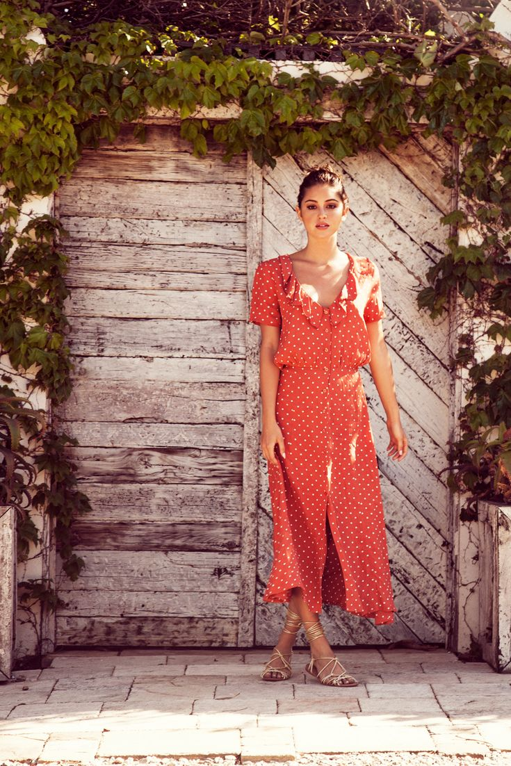 8545a8829d358e Auguste Lilly Lady Dress Classic Polka Dot Rust | Shop. Largo Drive ...