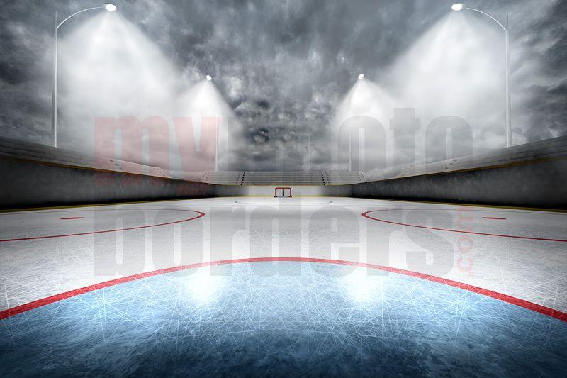 Digital Background Outdoor Hockey Horizontal Digital Backgrounds Hockey Green Screen Backdrop