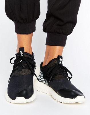adidas Originals Black Tubular Sneakers