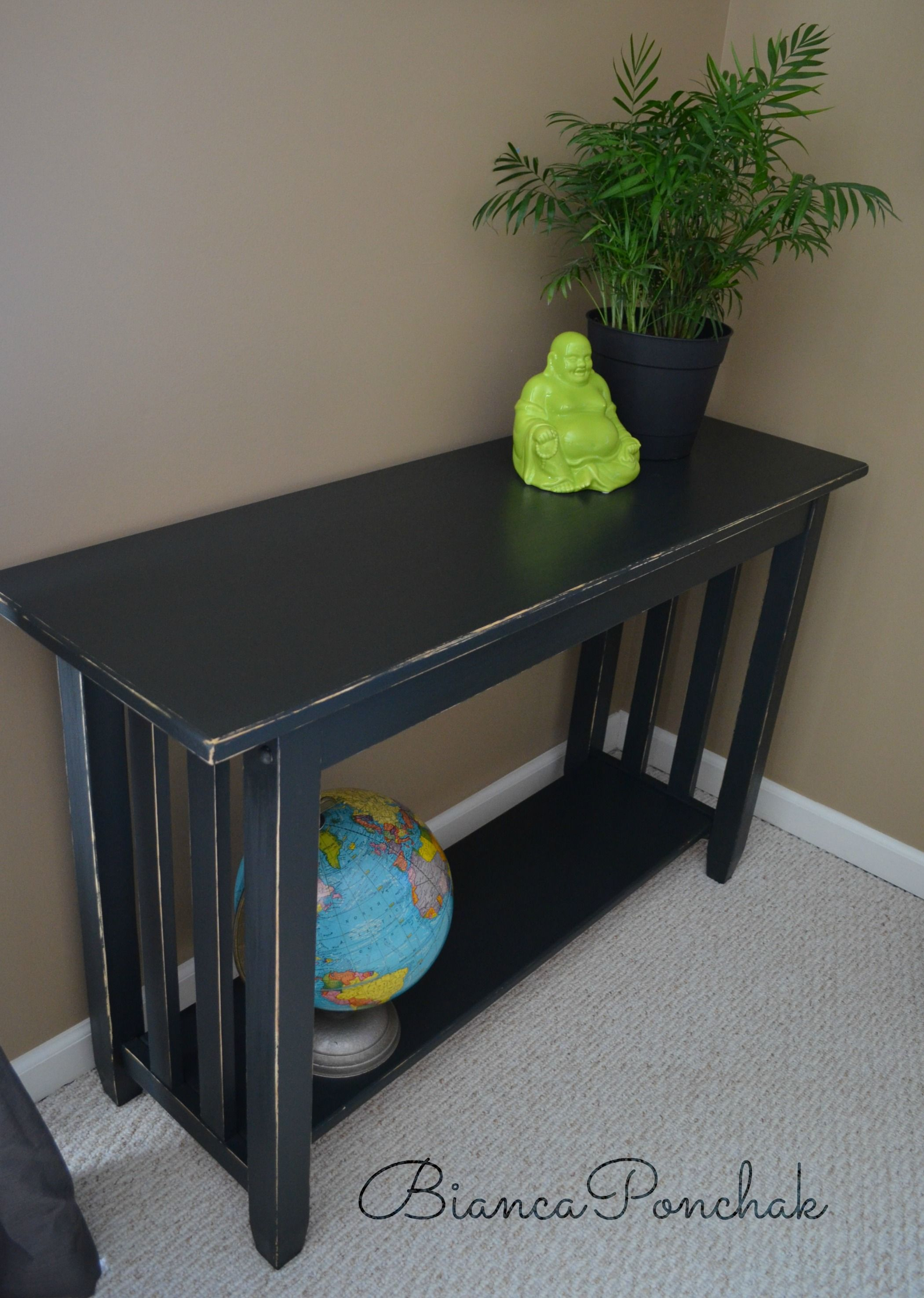 Painted Mission Style Sofa Table
