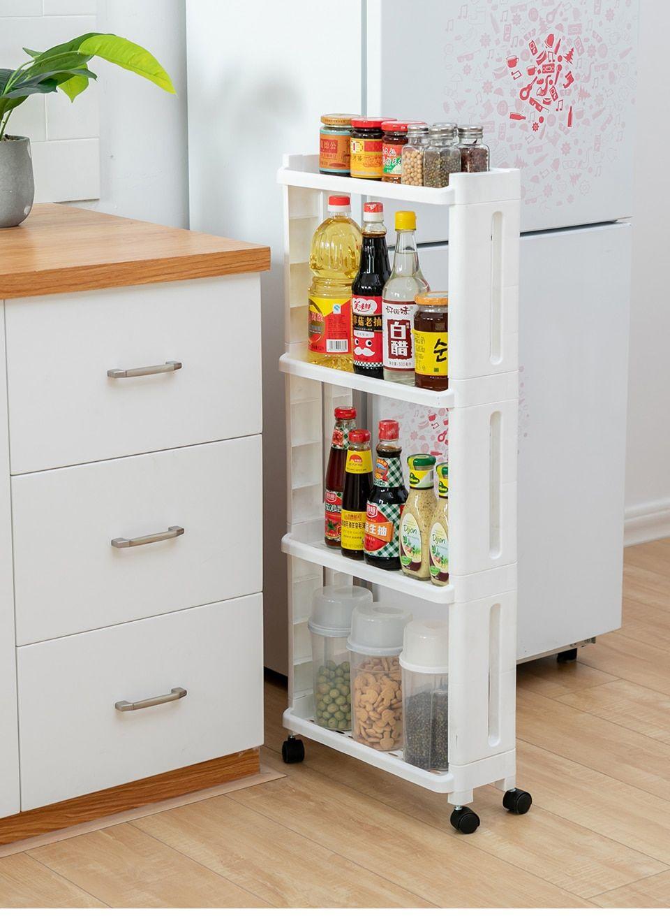 The Goods For Kitchen Storage Rack Fridge Side Shelf 2 3 4 Layer