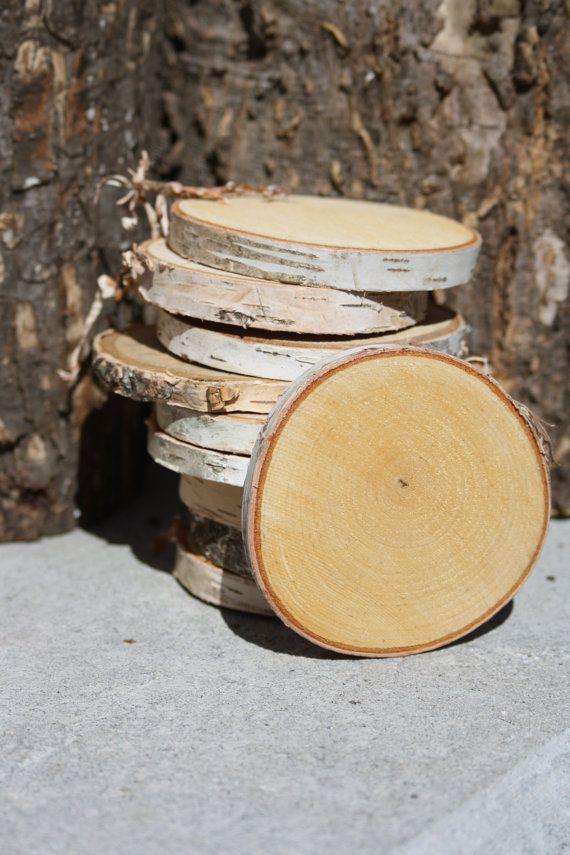 Birch Log Slices Birch Wood Slices Birch Craft Wood Wood Slices Tree Slices Log Slices Birch Slices Set Of 10 Or 20 Log Slices Birch Logs Crafts