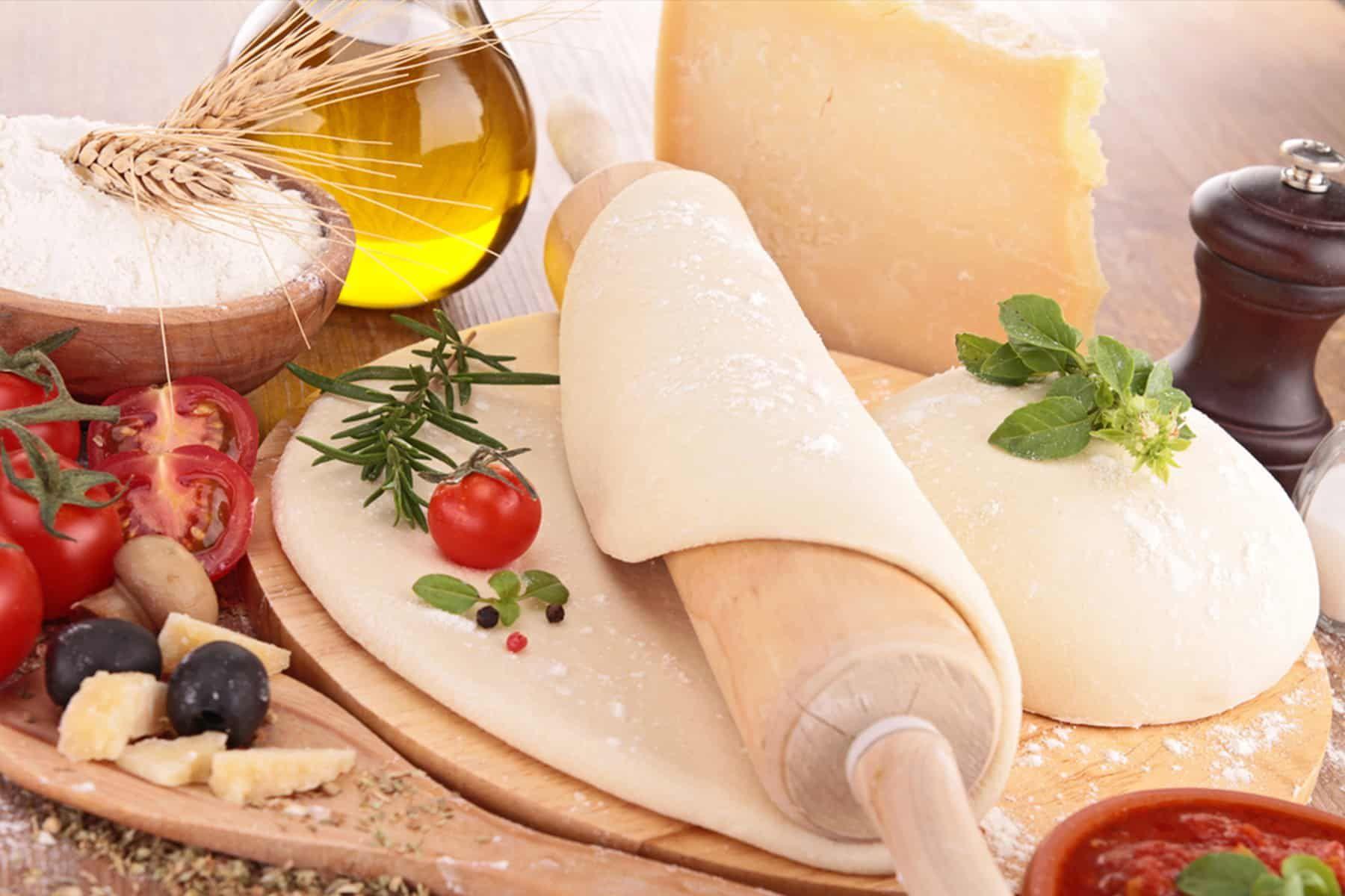 طريقة عمل عجينة البيتزا السريعه نجلاء الشرشابى موقع طبخة Cheese Food Camembert Cheese