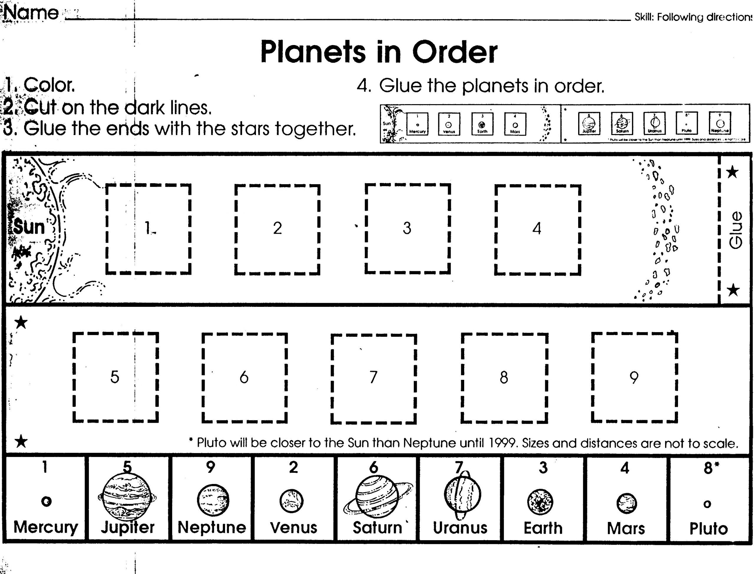 1 Outer Space Worksheets Label Printable Outer Space Worksheets Label Pin By Tessa Swift On Solar System Worksheets Free Science Worksheets Science Worksheets