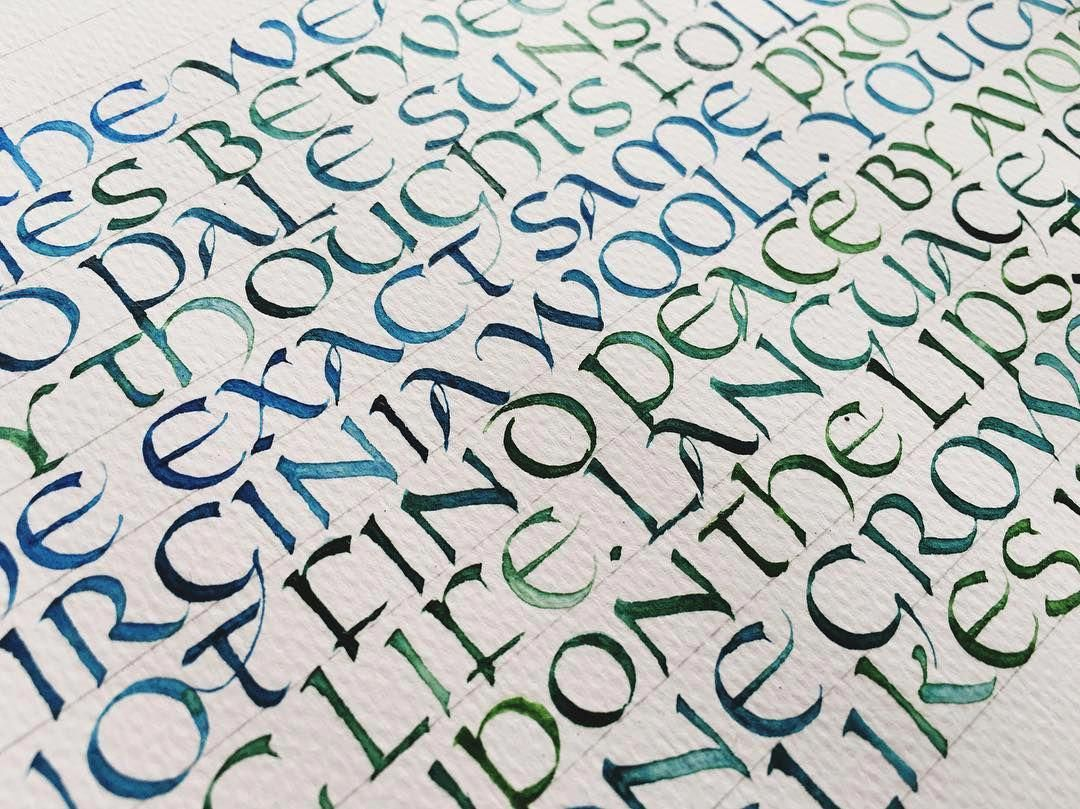 Neglected Uncial Practice Uncial Calligraphy
