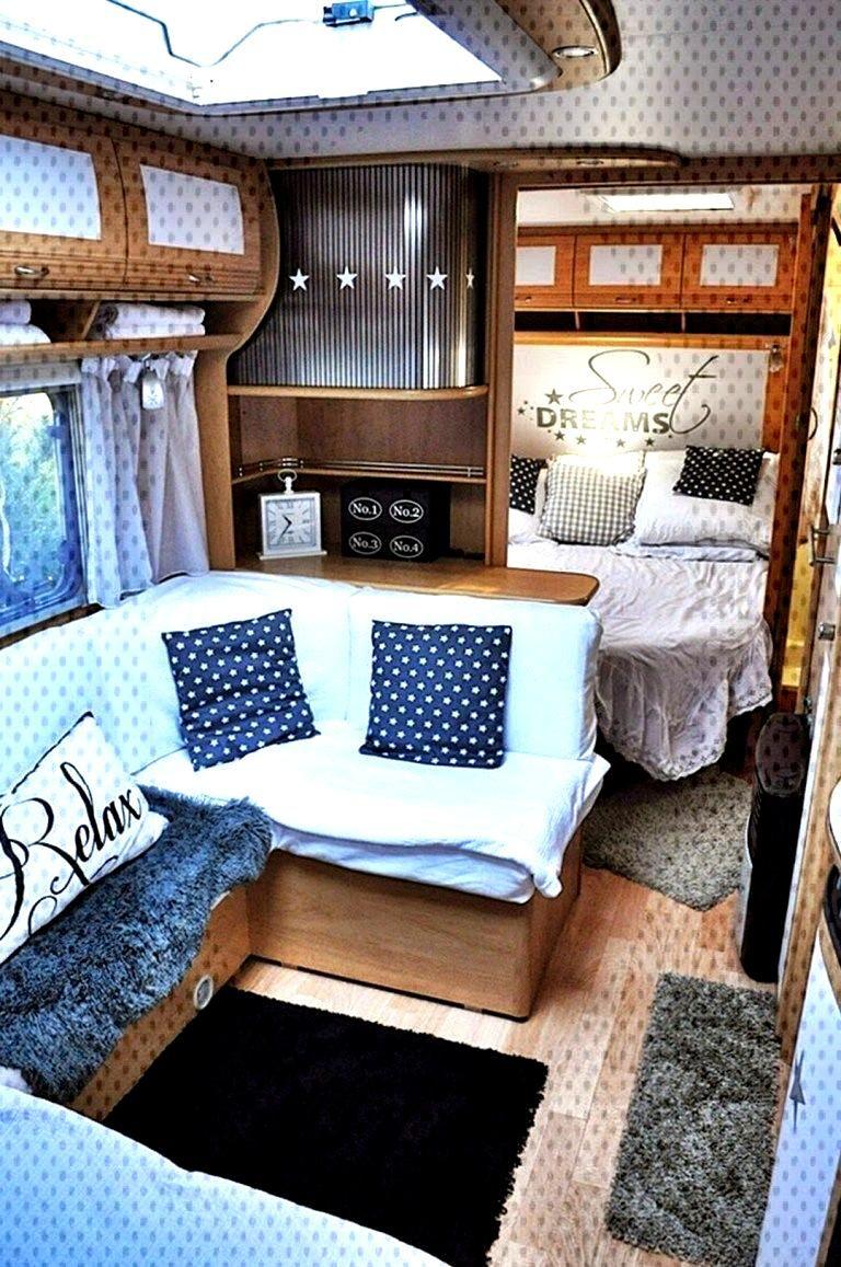 80 Best RV Camper Interior Remodel Ideas (36) - Abchomedecor